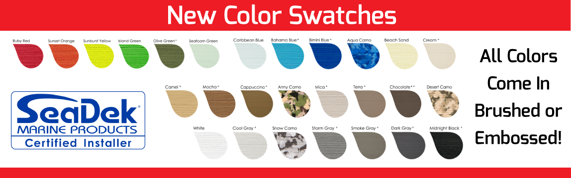 New SeaDek Color Swatches for 2019